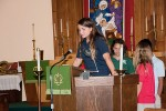 Scripture reading by 8th grade