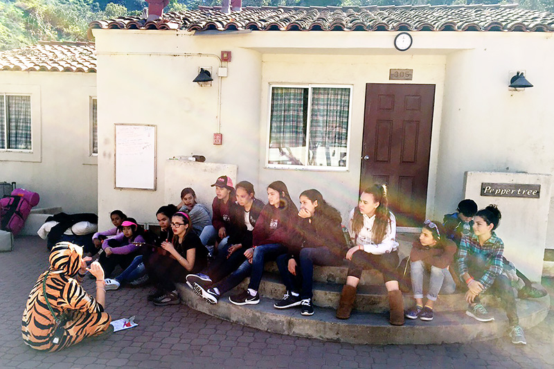 Orientation after a smooth trip over to Catalina & then off for the first day's adventures!