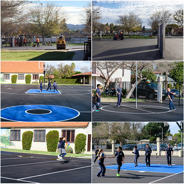 Big THANKS to everyone who helped with the re-pavement of the playground. We love it!